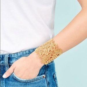 Stella & Dot Chantilly Gold Lace Cuff